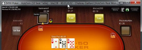5050 Poker maksejõuetus
