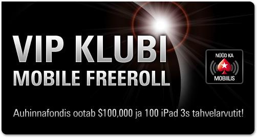 PokerStars mobile app $100 000 freeroll