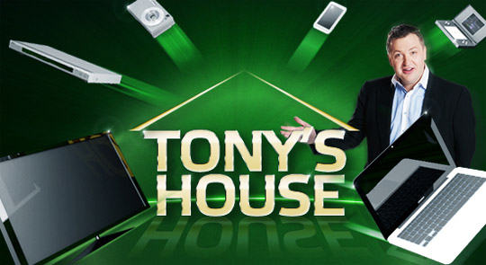 Tony G. House Giveaway - Win Prizes and Volkswagen Gold GTI
