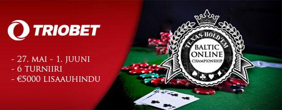 Mai lõpus toimuvad Triobetis Balti meistrivõistlused online-pokkeris