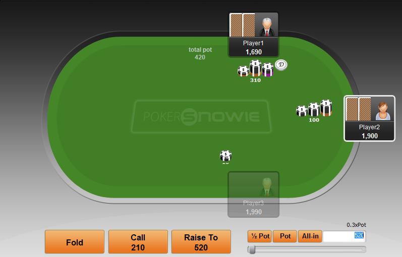 PokerSnowie näide domineeringust