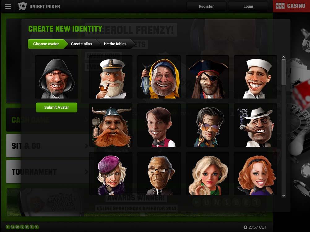 Unibeti uue tarkvara avatari valimine