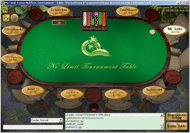 Paradise Poker 2003 software