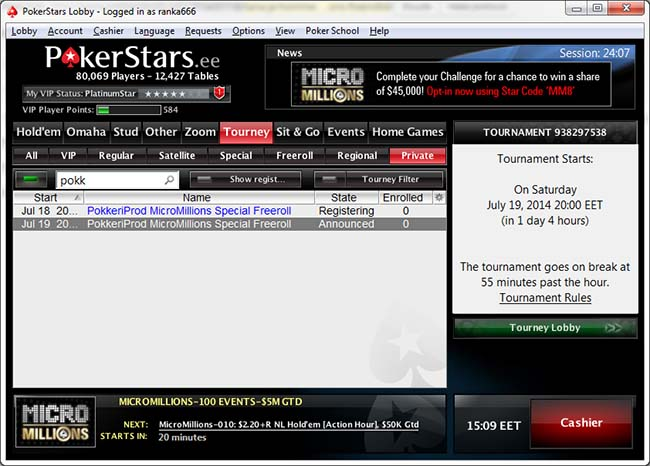 pokerstarsi-freeroll